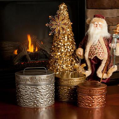 Candy House Holiday Cheer Tins - 3 pk.