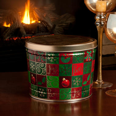 Candy House Holiday Popcorn Variety Tin