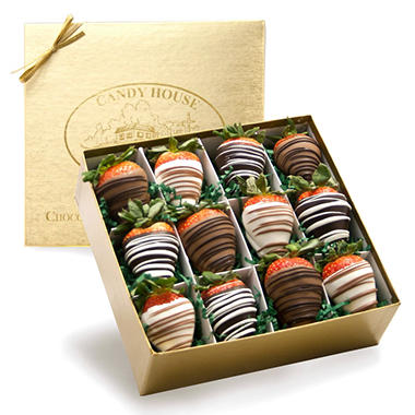Candy House Chocolate Dipped Strawberries - 1 Dozen