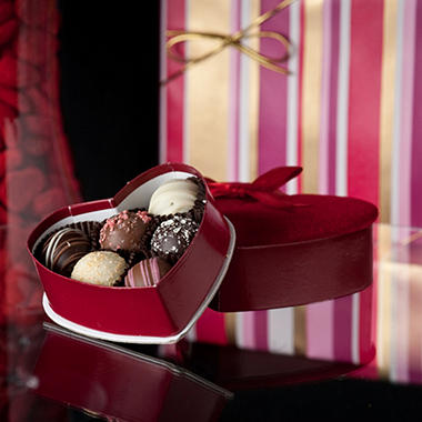 Candy House Valentine Heart Truffle Assortment 2 oz set of 6