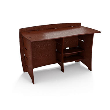 Bamboo Straight Desk - Espresso Finish - 48