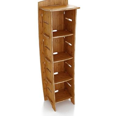 "59"" x 18"" Bookcase - Amber Bamboo"