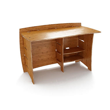 "48"" Straight Desk - Amber Bamboo"