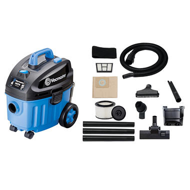 Vacmaster - 4 Gallon/5 Peak HP Household Wet/Dry Vacuum