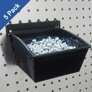PegBoard Bins - 5 pc. Set