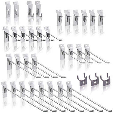SlatWall Hooks Set - 35 pc.