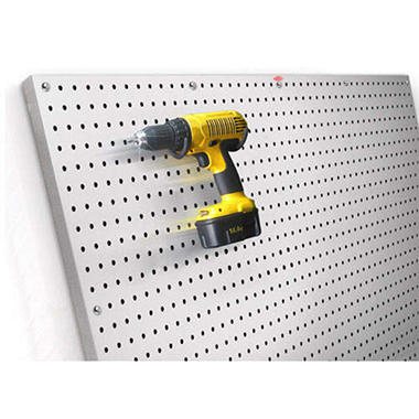 PegBoard X2™ - 4' x 4' Brushed Aluminum Panel