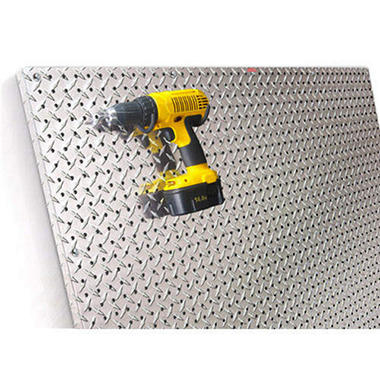 PegBoard X2™ - 4x4 Panel - Diamond Plate