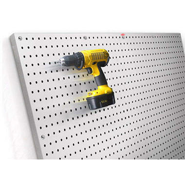 PegBoard X2™ Brushed Aluminum Panel - 2' x 4'
