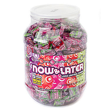 Now/Later Assorted Flavors Jar - 3 lb. Jar - 176 ct.