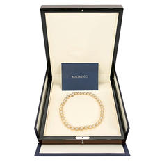 Mikimoto A+ Golden South Sea Cultured Pearls with 18K Yellow Gold Clasp
