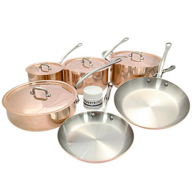 Mauviel M'150 10-pc. Copper and Stainless Steel Cookware Set