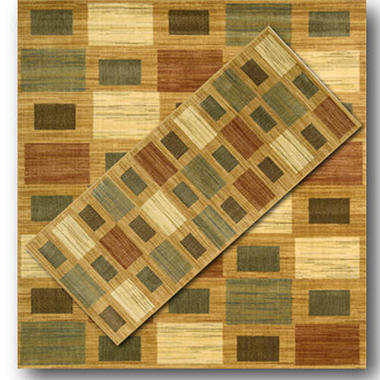 Nourison Motions Gold 2 Rug Set - 5'x7', 2'x 8'
