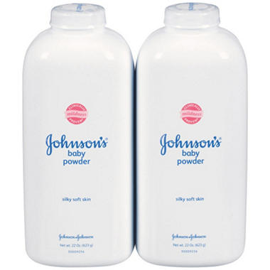 Johnson & Johnson's Baby Powder (22 oz., 2 pk.)