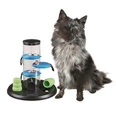 "Trixie Gambling Tower Activity for Dogs, Beginner (9.75"" x 9.75"" x 10.5"")"