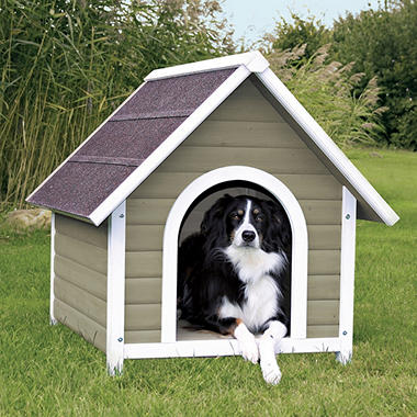 TRIXIE Nantucket Dog House, Gray - Various Sizes