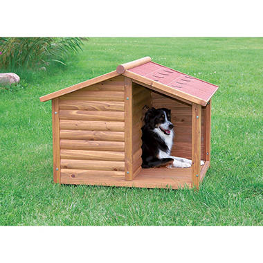 TRIXIE Rustic Dog House (Choose Your Side)
