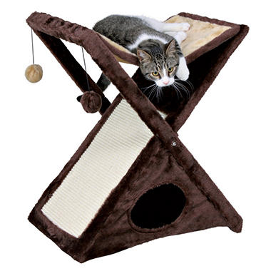 Trixie Miguel Fold-and-Store Cat Tower, Brown (20.5