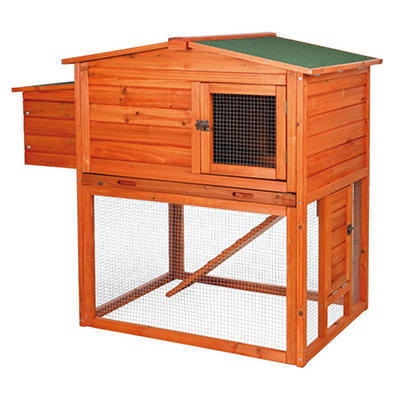 TRIXIE - Two-Story Chicken Coop with Outdoor Run