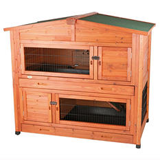 "Trixie 2-Story Rabbit Hutch with Attic, Large (52.25"" x 32.5"" x 47"")"