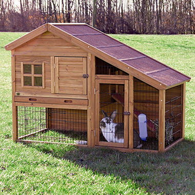 Trixie rabbit hutch with a view x x 42 for Cage lapin exterieur
