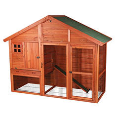 "Trixie Rabbit Hutch with Gabled Roof (76.25"" x 31.5"" x 59.75"")"