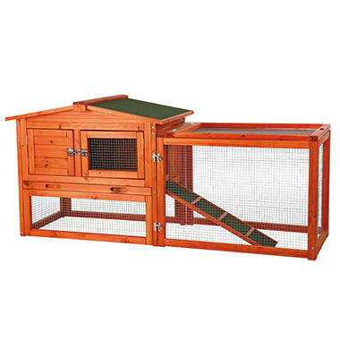 Rabbit Hutch with Outdoor Run - Extra Small