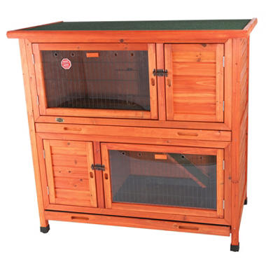 2-in-1 Rabbit Hutch with Insulation