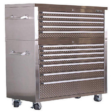 12 Drawer Stainless Steel Tool Chest - 41""