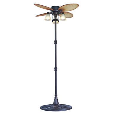 Outdoor Palm Leaf Stand Fan
