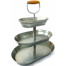 3 Tier Wire Serving Stand