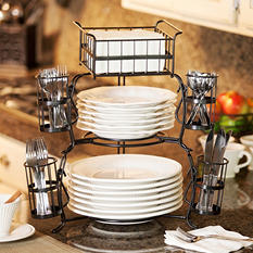 Giftburg 7-Piece Stackable Buffet Caddy