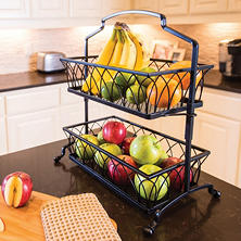 Giftburg Two-Tier Wrought-Iron Basket