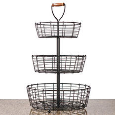 Giftburg 3-Tier Wrought Iron Wire Basket