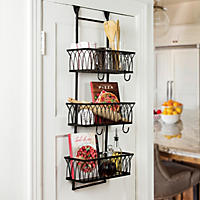 Arch Over The Door 3 Basket Organizer