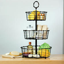 Giftburg Wrought-Iron 3-Tier Basket