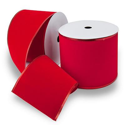 Premium Wired Ribbon, Red Velvet - 2 pack (50 yds. each)
