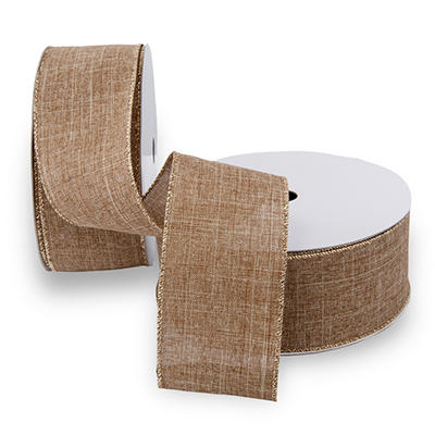 Premium Wired Ribbon, Linen - 2 pack (50 yds. each)