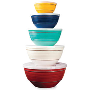 Melamine 10-Piece Mixing Bowl Set