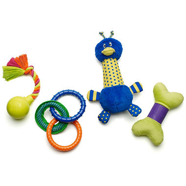 Zany Bunch Dog Toys - 4 pk.