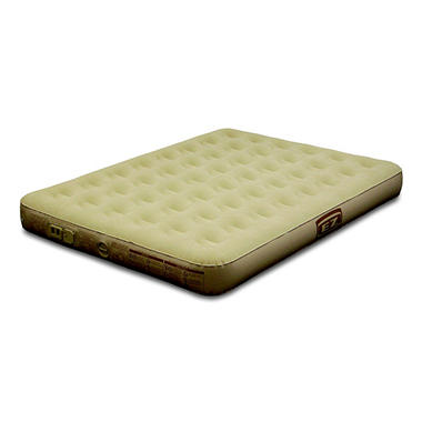 Queen Suede Airbed with Built-in Dry Cell Pump