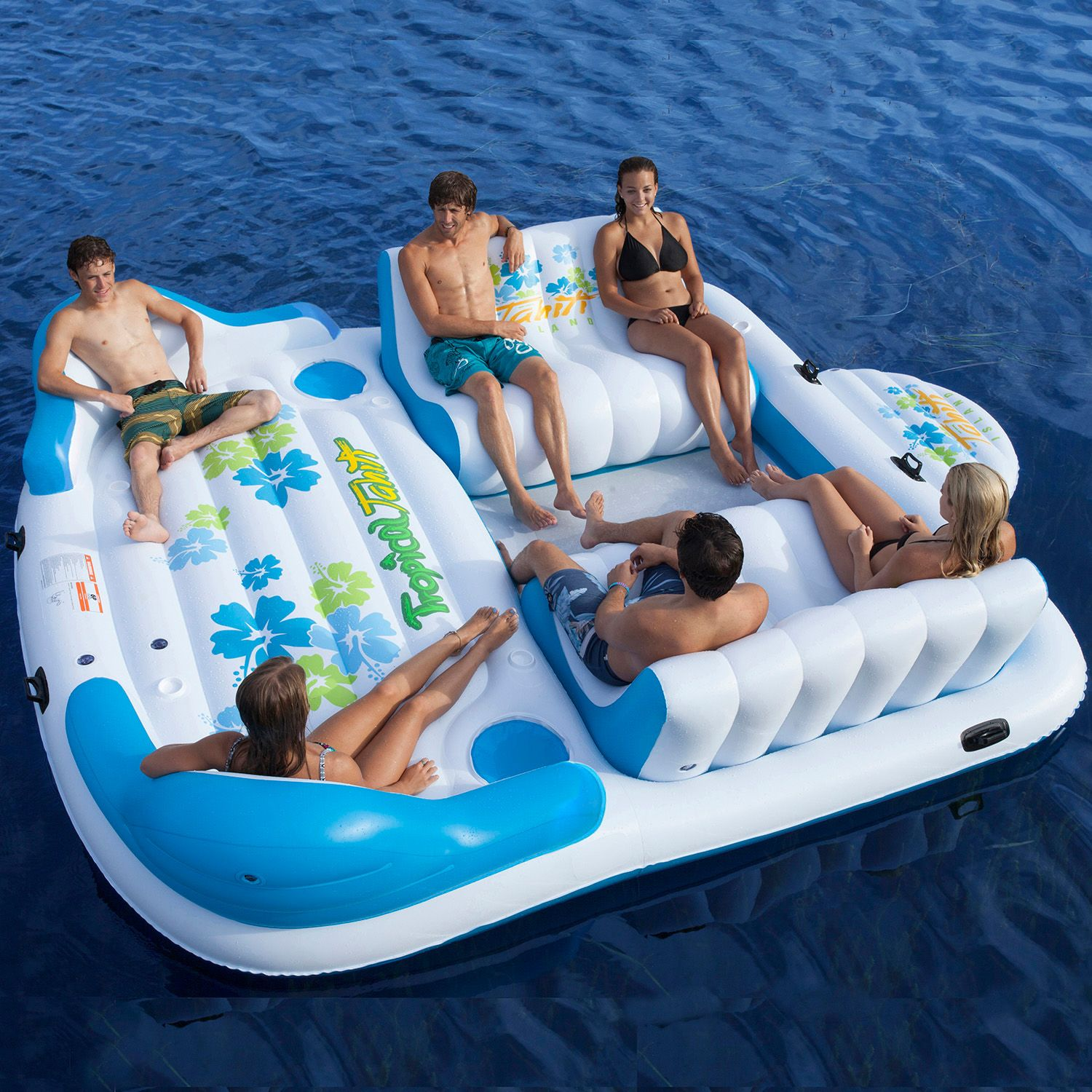 Tropical Tahiti Inflatable Floating Island Raft 7 Person Sofa Cooler Lounge Sofa New Free Shipping. $ view deal Tropical Tahiti Inflatable Raft Pool Float Ocean Lake 7 Person Floating Island New New Inflatable Raft Pool Lake Ocean 6 Person Tropical Tahiti Floating Island New Free Shipping.