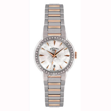 Rotary Ladies' White Mother of Pearl Bracelet Watch