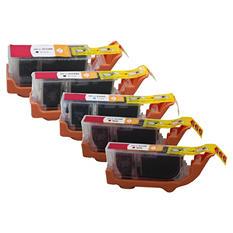Canon PGI-226/PGI-225 Compatible Ink Tank Cartridge, Black/Cyan/Magenta/Yellow (5 pk.)