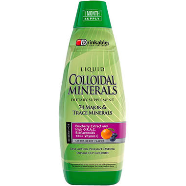 Drinkables® Colloidal Minerals - 6 pk./30 oz.