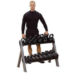 Body Solid GDKR100 Kettlebell/Dumbbell Rack
