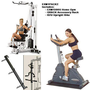 Body Solid EXM1500S Home Fitness Room Package 2