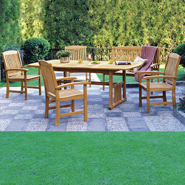 Extendable Teak Wood Dining Set 6 Pc Sam S Club