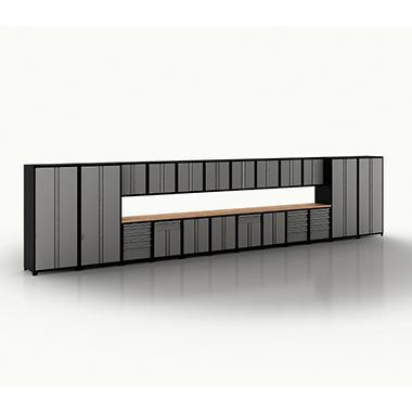 New Age Garage Storage Cabinet Set - Grey - 24 pc.
