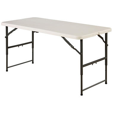 Maxchief 4' Fold-in-Half Table - White